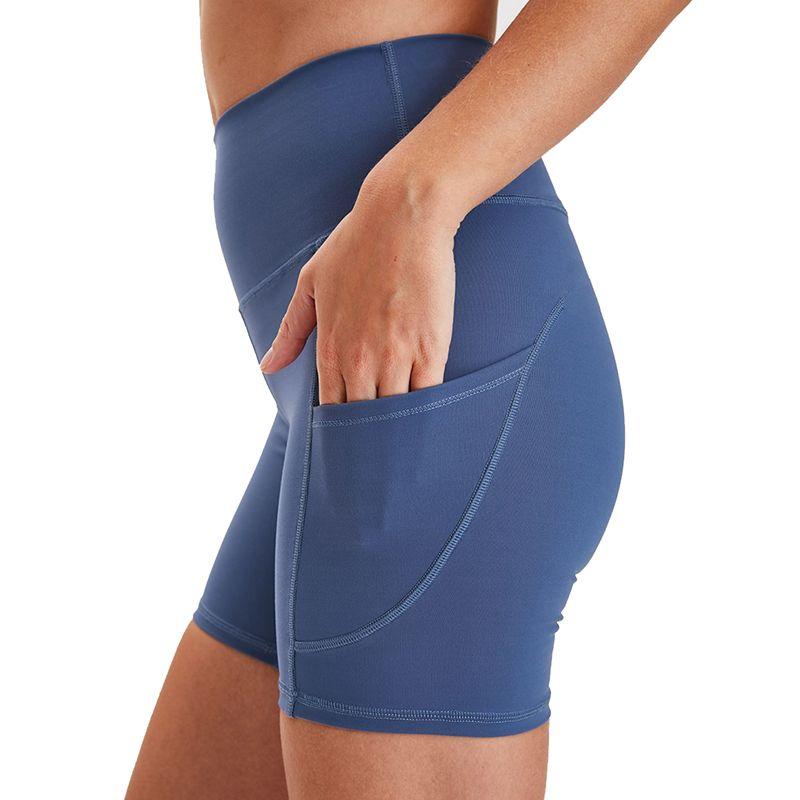 Bayan Yoga Şort Yüksek Bel Gym Spor Eğitim Tayt Spor Kısa Pantolon Moda Hızlı Kuruyan Katı Yoga Şort L-023