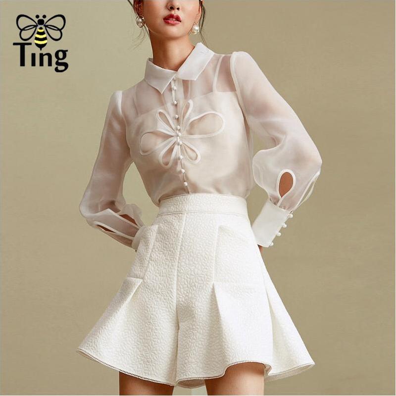 Kadın Eşofman Tırtılı Tasarımcı Vogue Yaz Beyaz Renk 2 ADET Setleri Kadın Set Tek Göğüslü Bluz Şort Pantolon Sokak Günlük Kıyafet