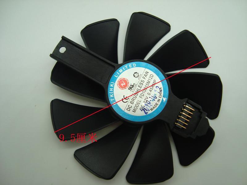 Original para safira rx5700xt rx5700 gráficos placa de vídeo refrigerando fdc10h12d9-c fd10015m12d fãs coolings