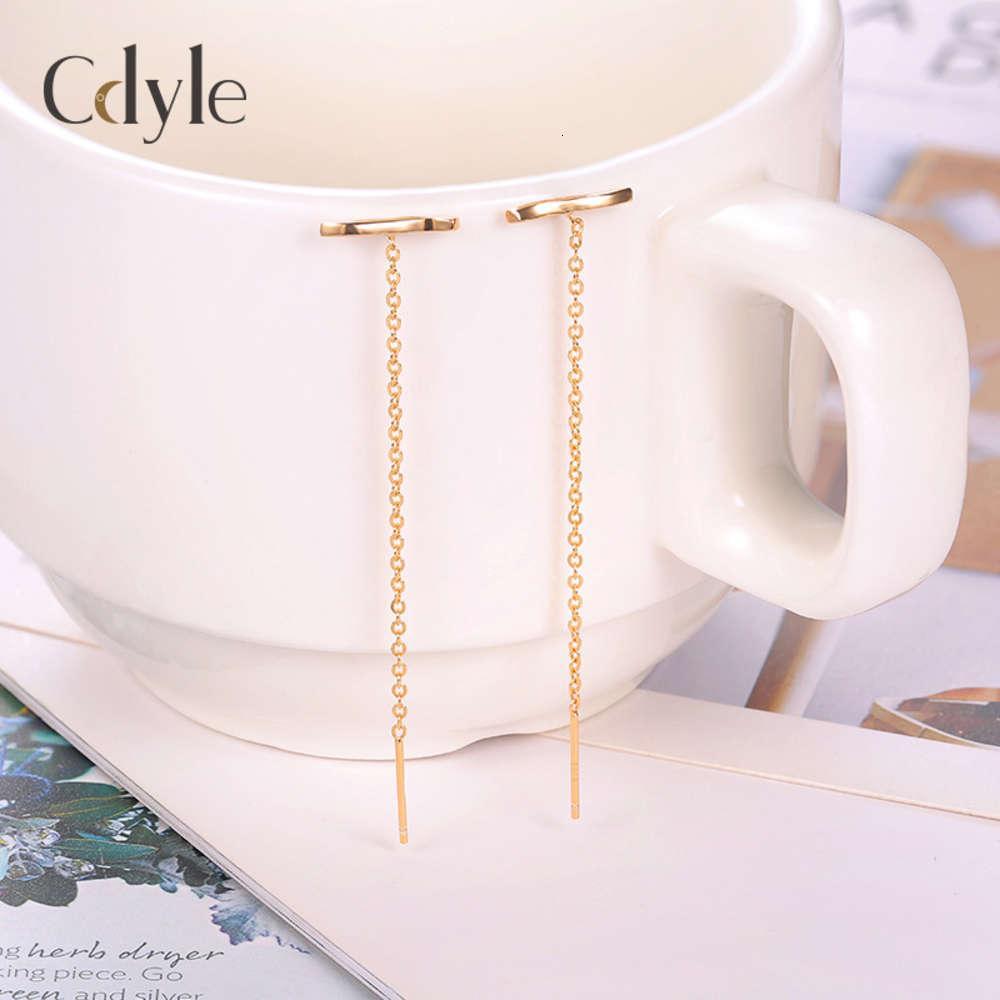 Neue S925 Reine Silber Einfache Shell Perlen Quaste Lange Ringe Temperament Anti Lost Line Personalisierte Ringe Für Frauen Damen Ohrringe
