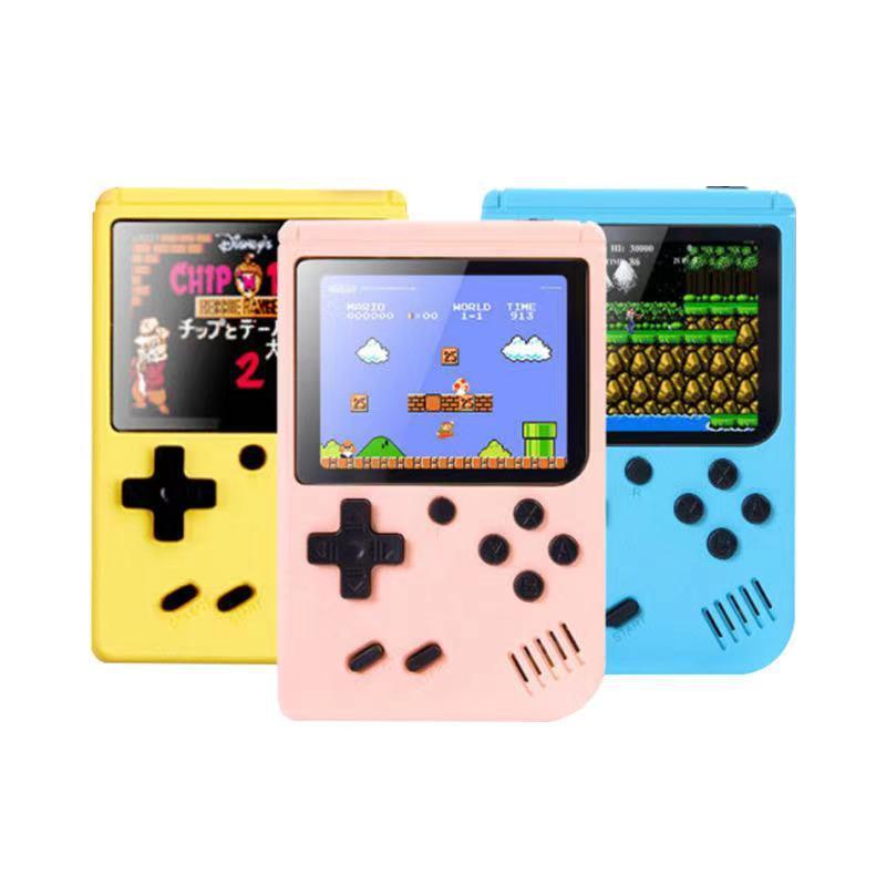 Consola de videojuegos de mano 400-IN-1 - Diseño retro de 8 bits con lcd de 3 pulgadas LCD y 400 juegos clásicos: soporta dos jugadores, salida AV (cable incluido)