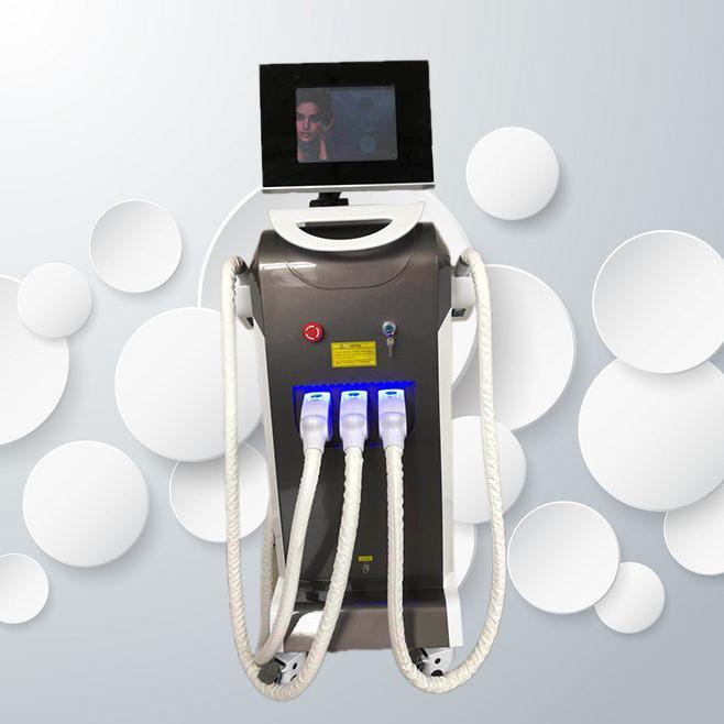 Déposez 3 en 1 RF + ND YAG Laser + Opt opt Tattoo Suppression de l'épilation au laser Machine IPL