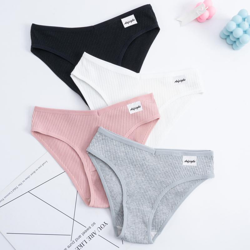 Cotton Panties Female Underpants Sexy Panties For Women Briefs Underwear Comfortable Ladies Pantys Lingerie 6 Solid Color
