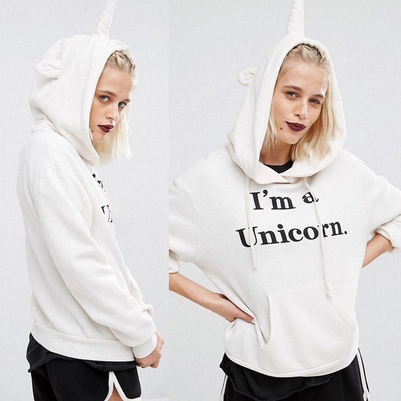 Beliebter losischer Druck-Unicorn-Hoodie