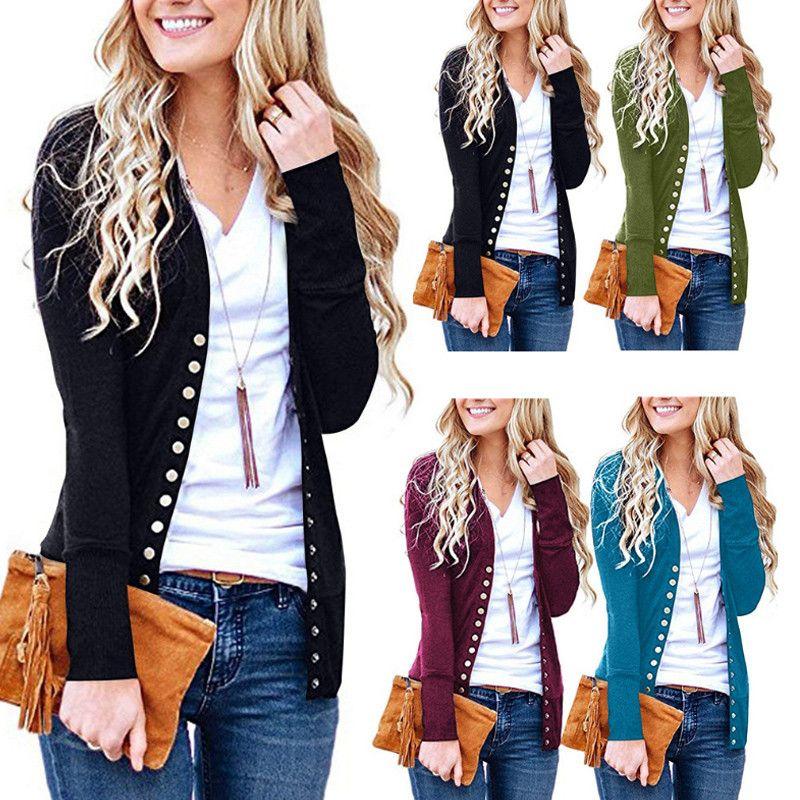 Fashion and elegant sweater autumn long jacket ladies sleeved slim knit cardigan top womens plus size