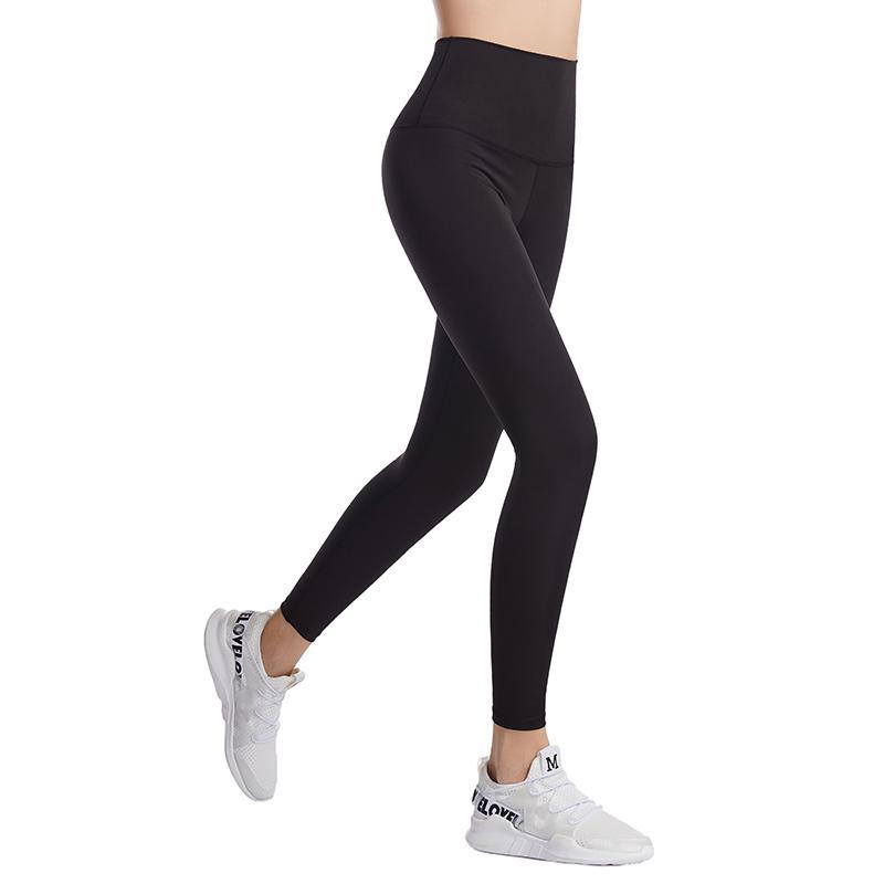 Fitness Wear Pantalon de Yoga athlétique Pantalon Solidé Femmes Tenue Filles High Taille Vêtements En plein air Courir Lu Lady Sports Full Leggings Effectuer des dames Y4VG #