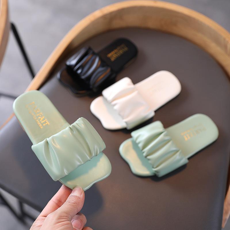 여자를위한 여름 아이들 슬리퍼 한국어 패션 홈 샌들 아기 유아 소녀 신발 슬라이드 집 플립 플롭 슬리퍼