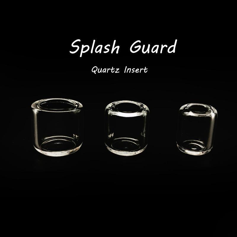 Sigara Aksesuarları Splash Guard Ekleme Kase ile 15mm 18mm 20mm OD Suit Kuvars Banger Çivi Cam Su Bongs
