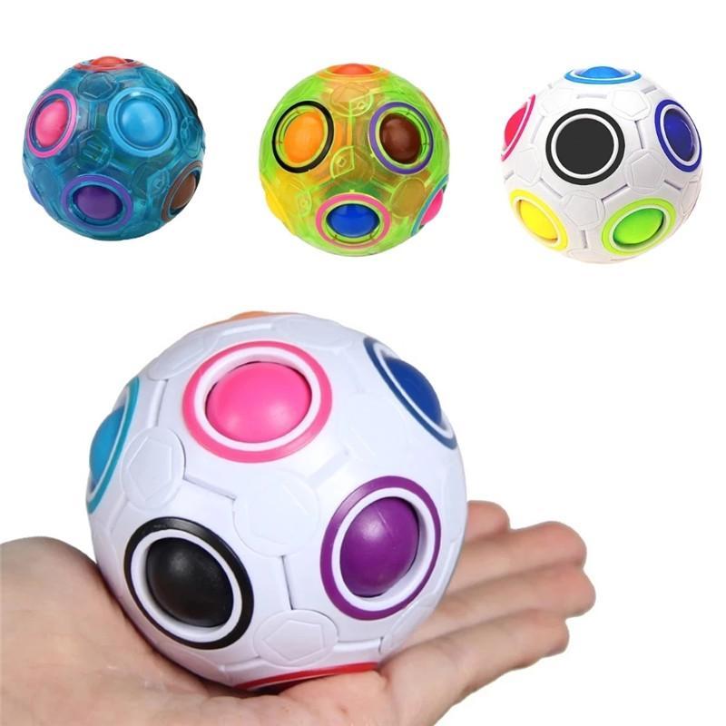 الإبداعية ماجيك rainbow الكرة مكعب لعبة لغز المرح تململ ريلفيد الإجهاد دفع فقاعات غير محترمة
