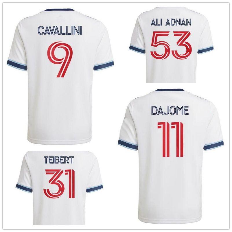 21-22 Anpassad Vancouver Whitecaps Away 6 Inbeom 9 Cavallini 29 Reyna 53 Ali Adnan Thai Quality Sports Jerseys Yakuda Droppe Accepted