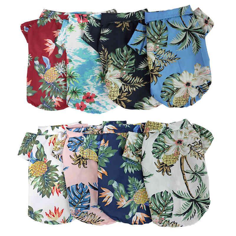 Wholesale dog hawaiian shirts Style Cotton and Linen Pet big Dog clothes Shirt cat ropa para perros