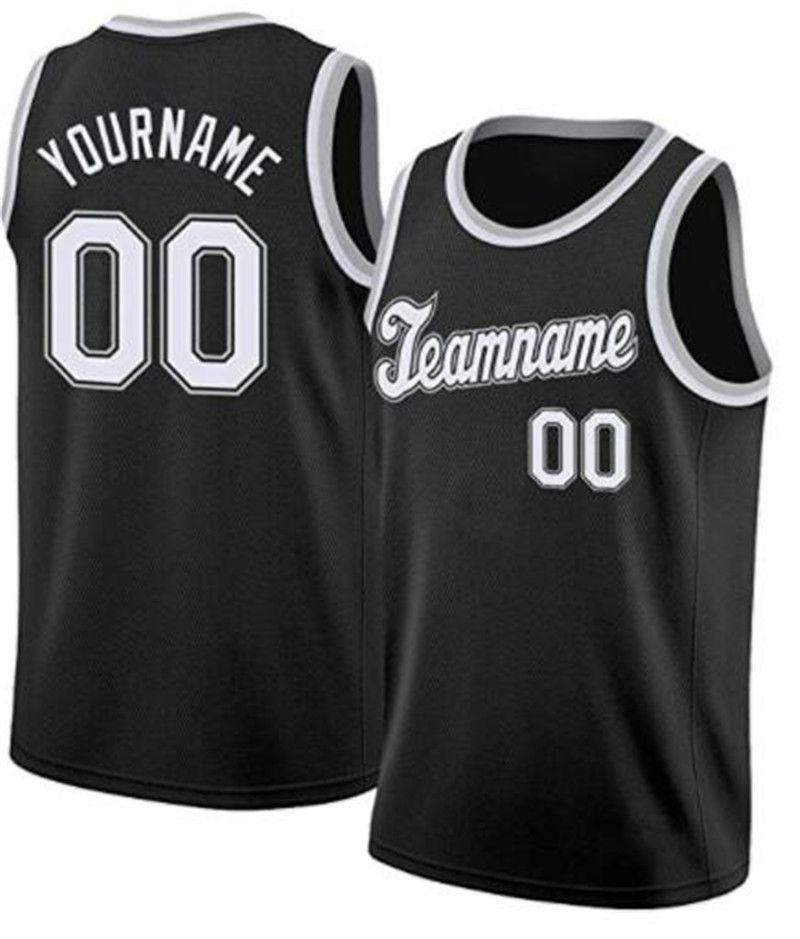 Costume Basketball Jersey Personalizado Personalizado San Francisco Los Angeles Houston South Florida Qualquer nome e número de manga curta uniforme desportivo Adulto