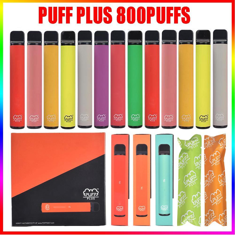 Top E-Zigaretten-Puff-Bar plus 800 Puffs Einweg-Pod-Patronen 550mAh-Batterie 3,2ml Vorgefüllte Vape-Pods tragbarer Verdampfer-Gerätedampf