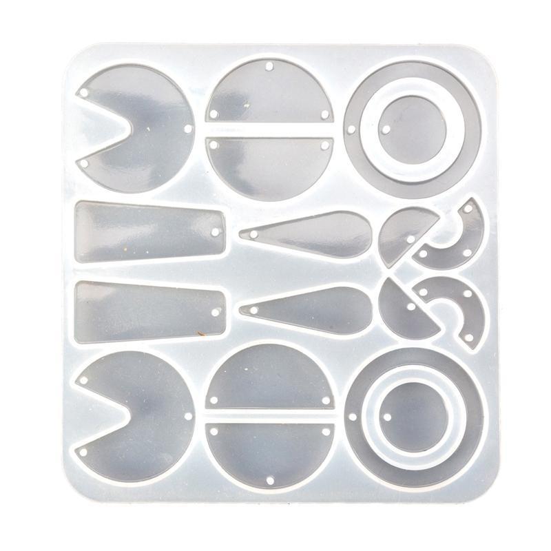 공예 귀걸이 수지 금형 기하학적 펜던트 실리콘 패션 쥬얼리 만드는 도구 저장 상자 쓰레기통