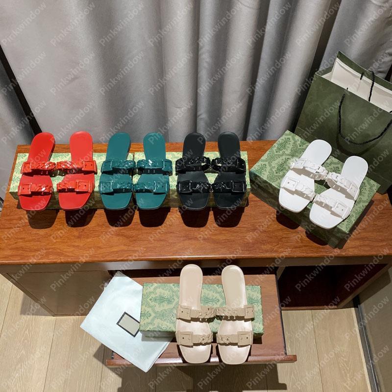 النساء الشرائح الصنادل المسطحة Espadrille Luxurys مصممي الصنادل المتزلجون منصة Sandalias Sandale مصمم أحذية الشريحة Sandales 2104042L