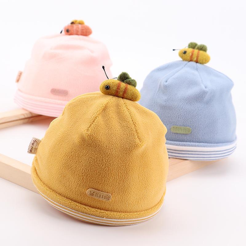 Gorras sombreros w093 0-6 meses primavera otoño goreie sombrero para niños niños niño niño nacido, auricular lindo cálido lind tejido tapa chicos niñas