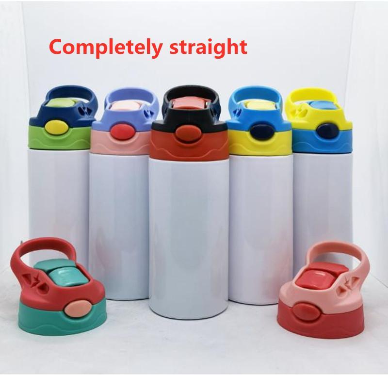 Sublimation 12oz Watter Bottle Definitamente dritto bicchiere di sippy tazza in acciaio inox Bottiglie per bambini in acciaio inox tazze di paglia di buona qualità per il bambino