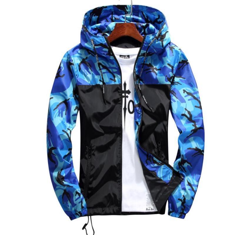 Jaquetas dos homens vendem homens casaco de luxo moletom moletom manga longa outono esportes zíper windcheater homens roupas