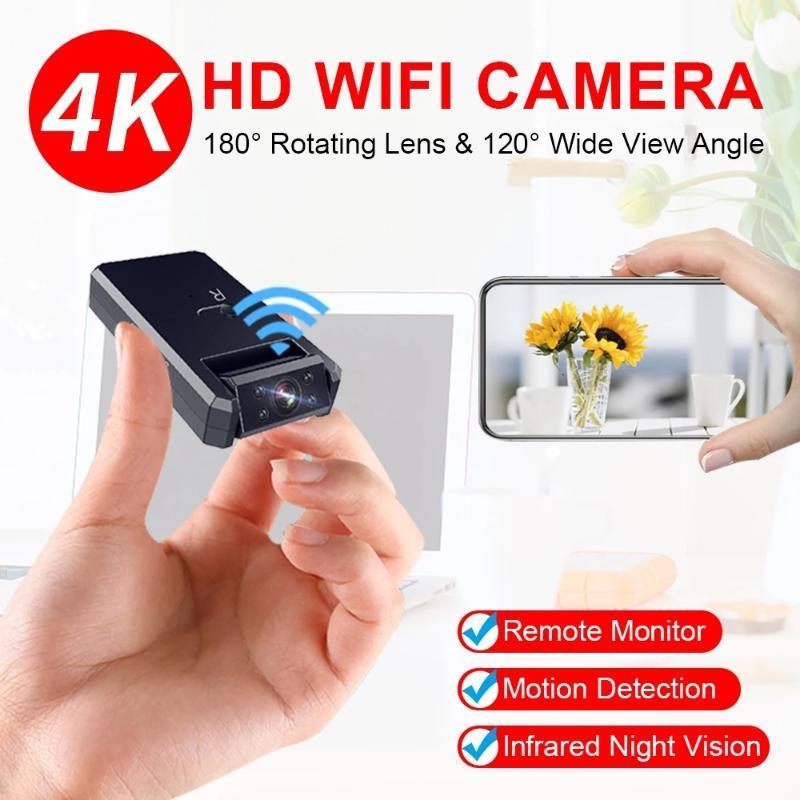 Mini câmera WiFi 1080P HD IP sem fio IP Micro Remoto Camcorder minúsculo gravador de vídeo Detecção de movimento Pequenas câmeras de noite