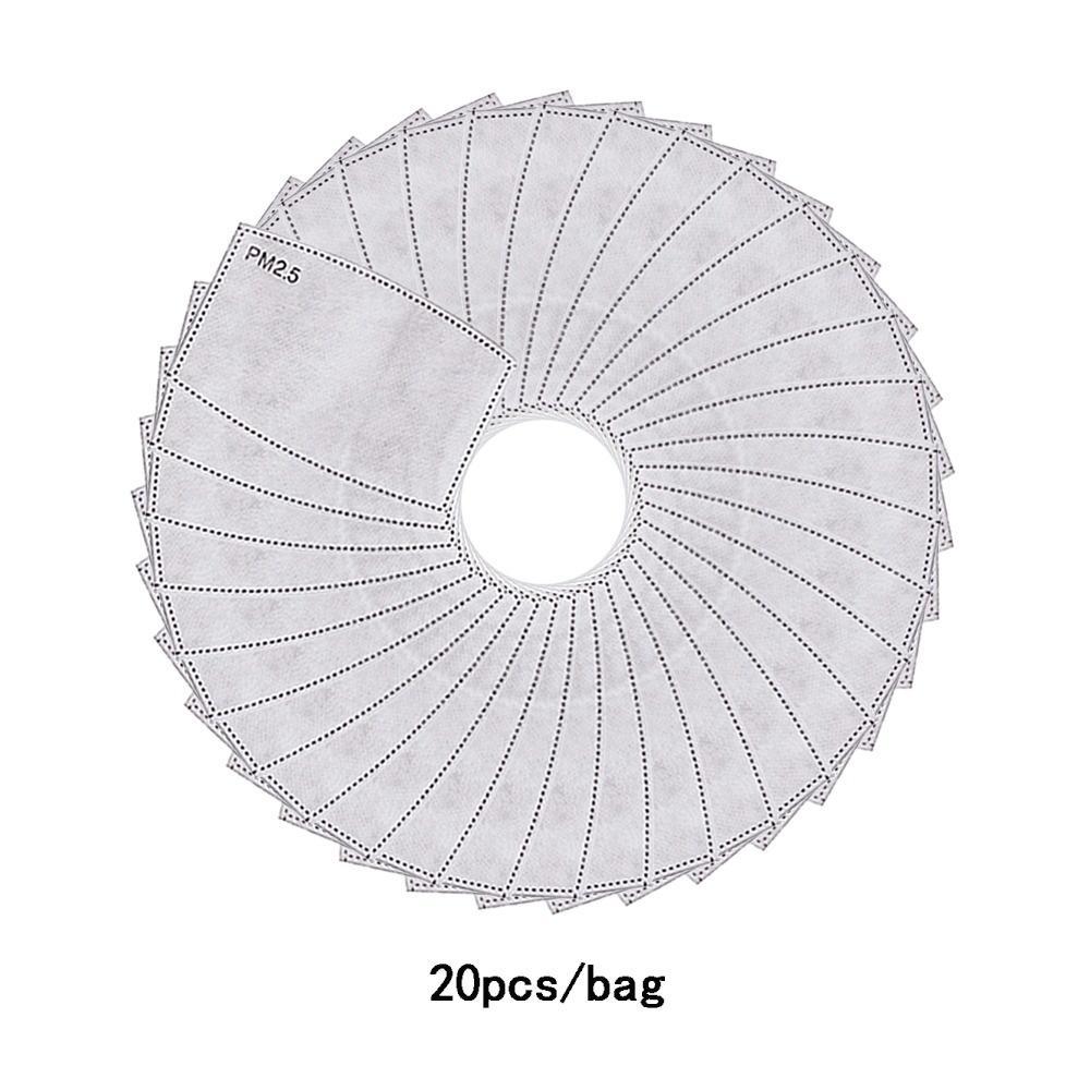 Traspibile PM 2.5 Carta da filtro per Anti Haze Polvere Maschera viso Attivato Filtro carbone Anti Anti Polvere Polvere Cover Outdoor Lavoro Maschere da lavoro Unisex