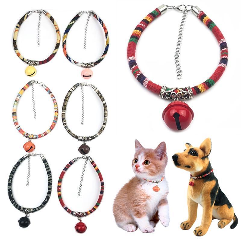 Воротник колокол котенка котенка ожерелье для домашних животных Cats Products домашние животные щенка собаки персонализированные регулируемые ошейники ведущие