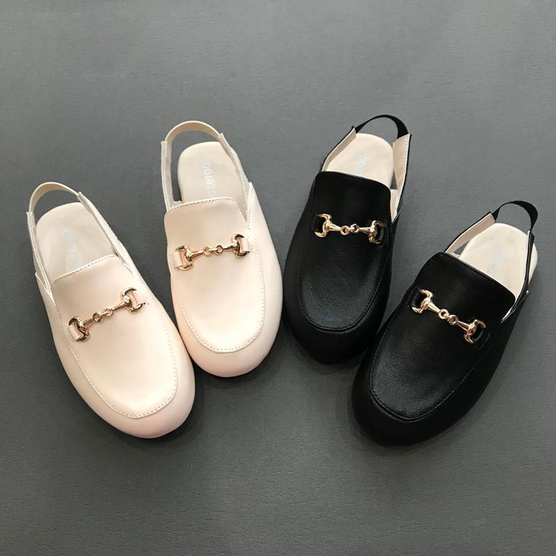 Slipper 2021 Spring Kids Shoes Children Princess Slides Baby Girls Black Brand Slippers Toddler Slip On Dress Flats Fashion Moccasin