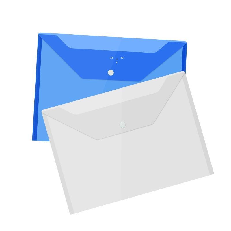 Borse di file documenti A4 con pulsante a scatto Busta di archiviazione trasparente Buste di file di plastica Cartelle di carta OWB10503