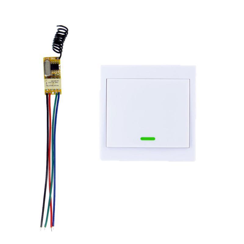 Smart Home Control DC 3.6V 3.7V 4.2V 4.5V 5V 6V 7.4V 9V 12V Mini Relay Switch Contact NO COM NC Wireless 86 Wall Panel Transmitter