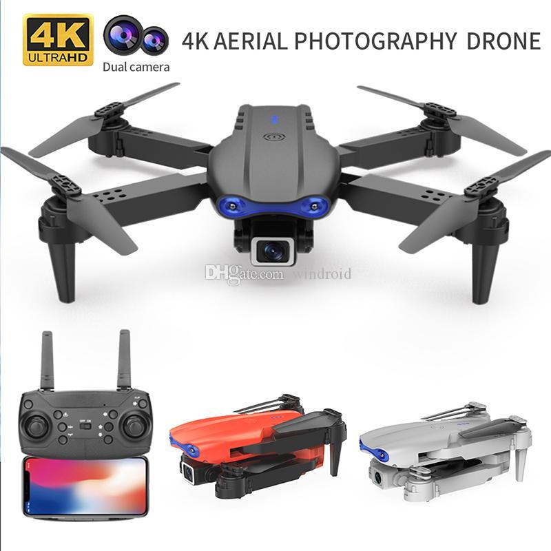 K3 Mini Drone 4K HD Cámara de doble ángulo ancho WiFi FPV Presión de aire Altitude Mantener plegable Quadcopter RC Selfie Selfie Helicóptero sin escobillas Juguetes