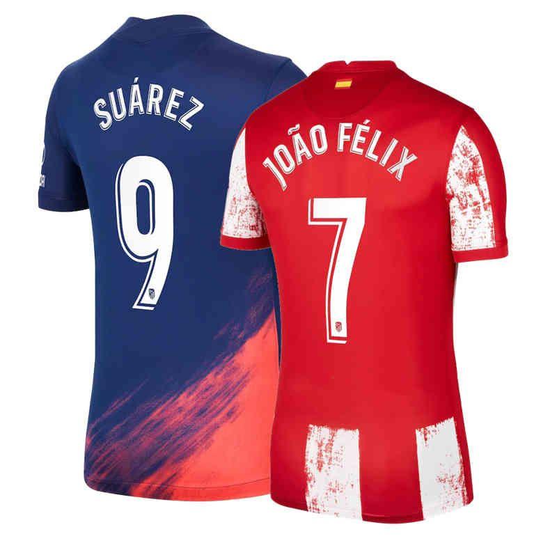 Men's Jackets 2022 ATLETICO MADRIDES HIGH QUALITY SOCCER JERSEY CUSTOMIZE SUAREZ JOAO FELIX CAMISETAS UNIFORM FOOTBALL SHIRT K8CW