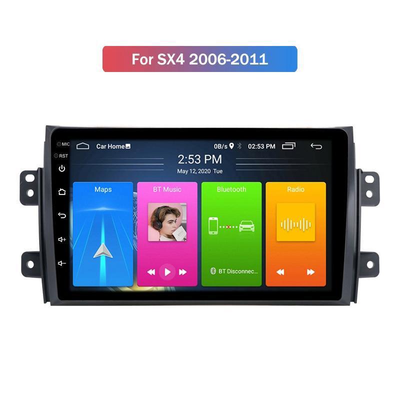 Quad Core 2 + 32G Android 10 2 DIN 9 pollici Auto DVD Player con sistema di navigazione GPS per SUZUKI SX4 2006-2011