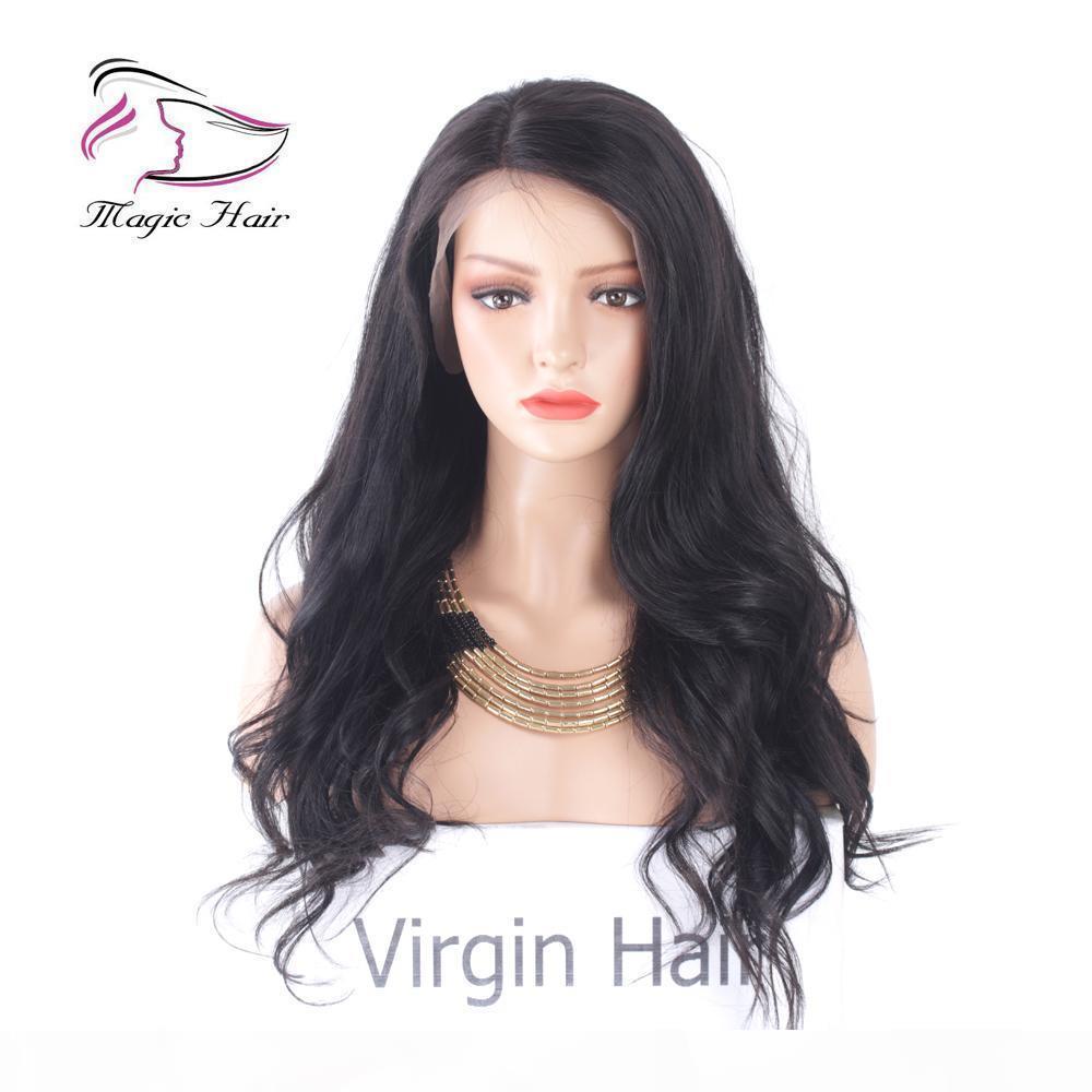 Evermagic Lace Front Menschliche Haarperücken für charmante Women Schöne Frisur Brasilianischer jungfräser Haar Körperwelle 8-22inch Natürliche Farbe