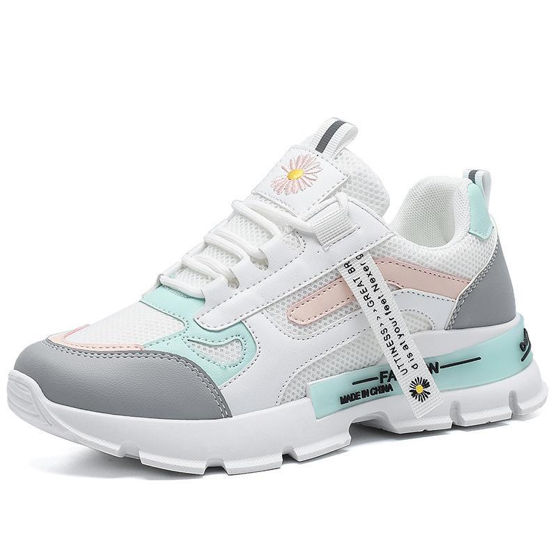 Bahar Kore Platformu Sneakers Kadın Ayakkabı Kalın Alt Tıknaz Sneakers Nefes Karışık Renkler Rahat Ayakkabılarda Kayma Kadın 2021 SDGIHIOH SDGKJHIUHGVSA USDTOIYAH