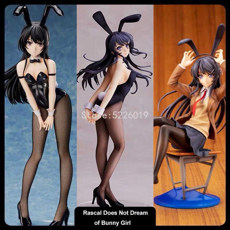 20cm Anime Rascal träumt nicht von Bunny Girl Senpai Sexy Figure Spielzeug Sakurajima Mai Chair Action Spielzeug
