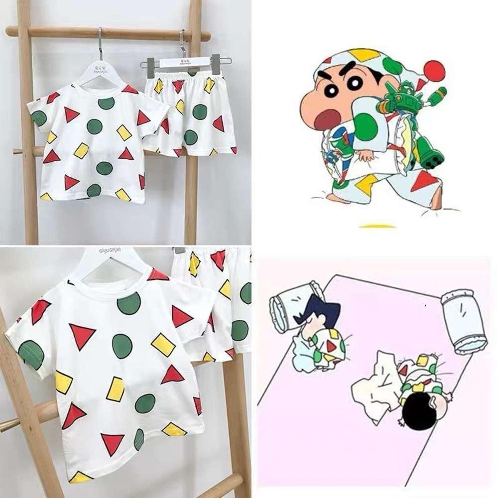 Pajamas Physique ShooingChildren Wear Summer Japane Crayon Xiaoxin Same Boy's Court Sve Home Tissu