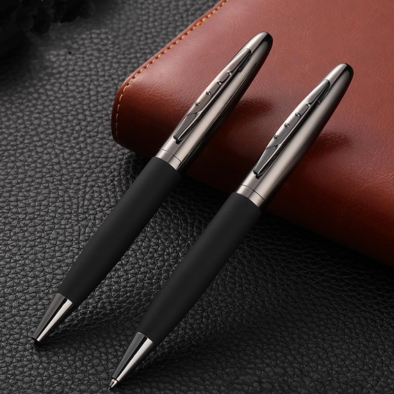 Ballpoint Pens Signature Pen Holder Electroplating Gun Gray Metal Ball Business Office Supplies