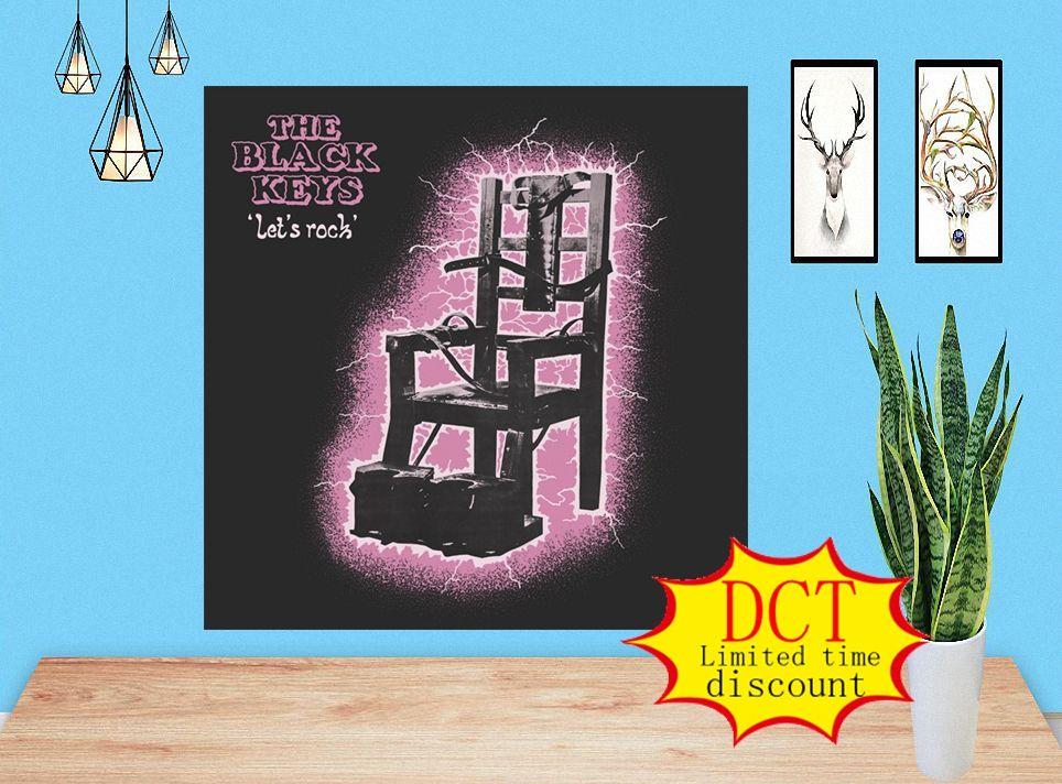 Llaves negras Lets Rock Album Poster Rap Music Cover Silk Art Lámina