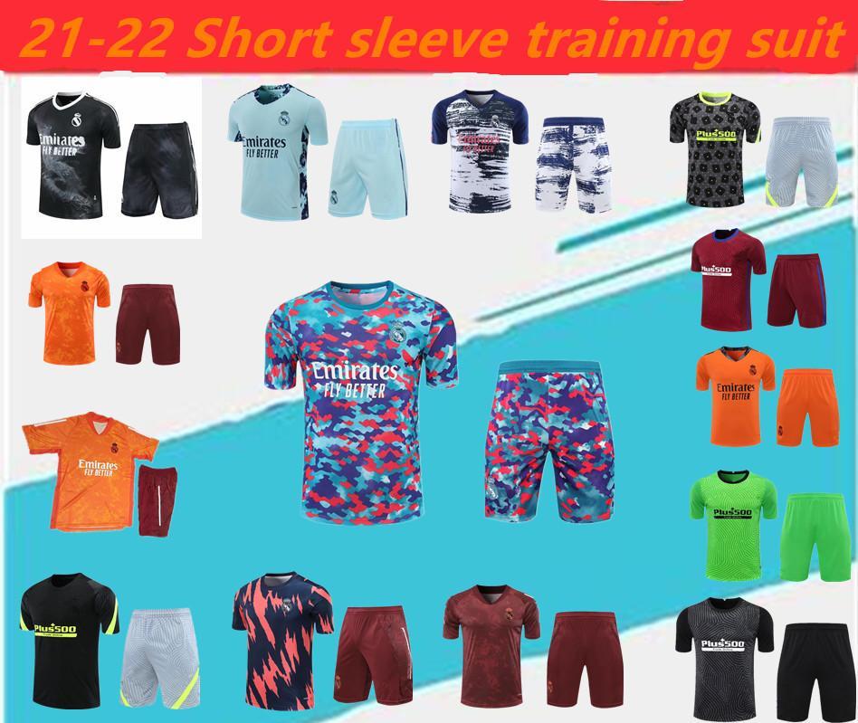 2021/22 Gerçek Madrid Yetişkin Futbol Set.Soccer Jersey Kısa Kollu Spor Takım Elbise Koşu Koşu Eğitimi, Suarez Şort Seti, Atlet Eşofman, Boyutu: S-2XL