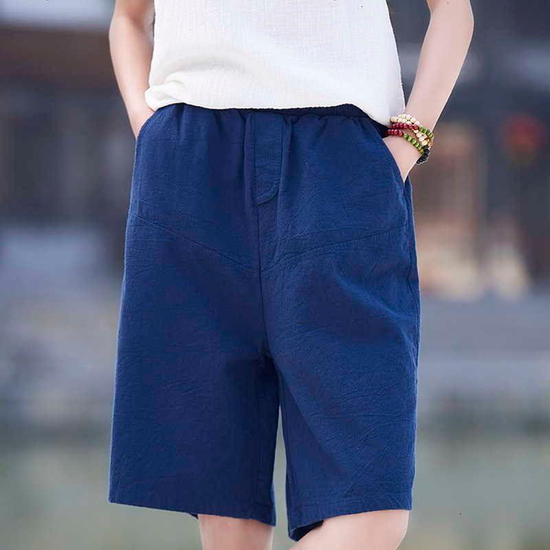 Damen Shorts Primavera Nein Vero de Algodo E Linho Mulheres Retro Moda Meninas Casual Elegante Curta Reta Menina Pantalones Q7FZ