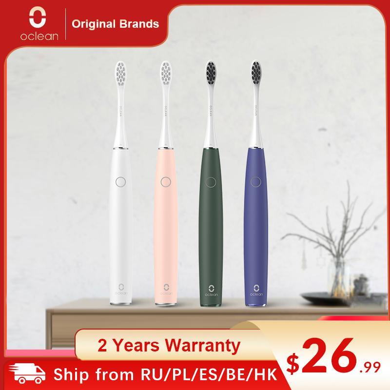 OCLEAN AIR 2 سونيك كتم فرشاة الأسنان الكهربائية IPX7 ماء شحن سريع 3 وضع فرشاة هادئة سونيك الذكية فرشاة الأسنان للبالغين Q0508