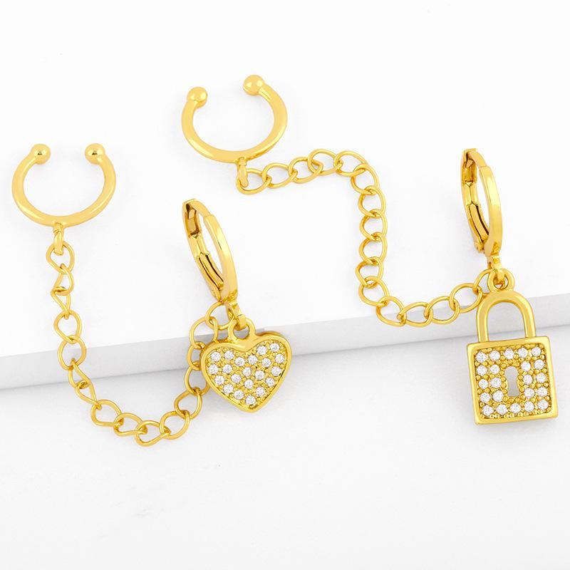 쥬얼리 단일 술 귀걸이로 디자이너 크리 에이 티브 패션 간단한 복숭아 HT 달 술 암컷 버클 귀 클립
