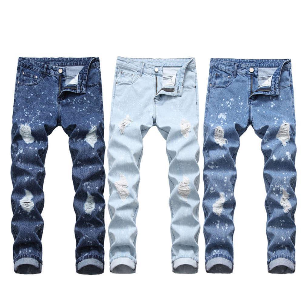 Jeans para hombres Jeans Medianos Hombres Nuevos Hombres Hombres Straight Jeans Pantalones de mezclilla delgados de los hombres al por mayor