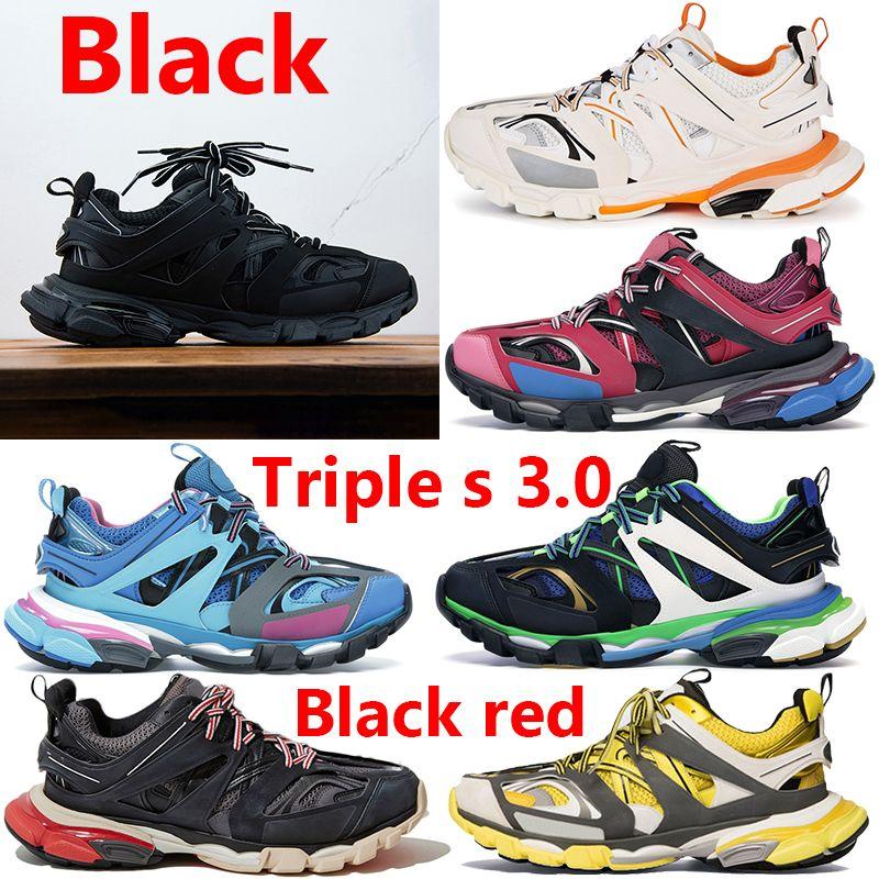 최고 품질 트리플 S 3.0 검은 신발 흰색 오렌지 녹색 파란색 노란색 캐주얼 로얄 그레이 핑크 패션 남자 여성 운동화