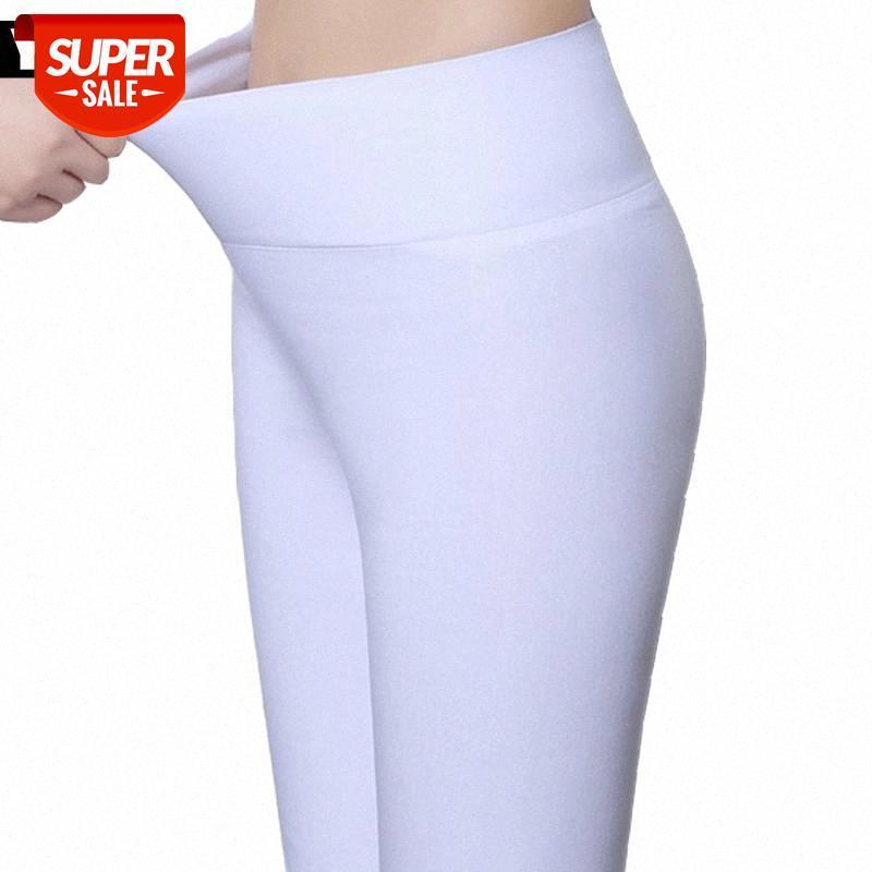 Talla grande 5xl 18 colores Color Color Leggings para mujer 2017 Verano Cintura alta de cintura Estiramiento Muchachas Pantalones femeninos flacos # CZ6A