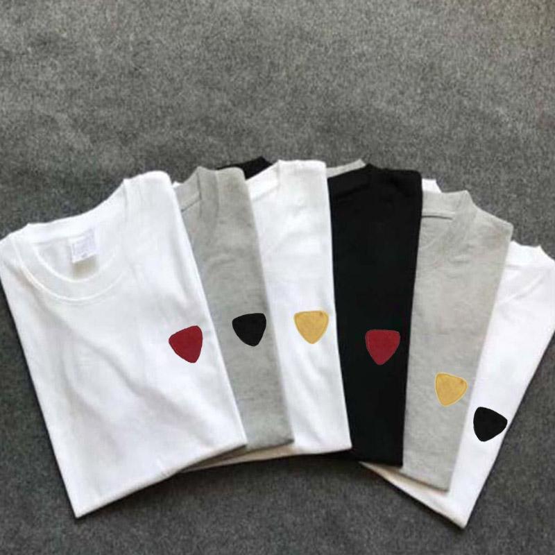 Mulheres Casual Camiseta Geomrtric Imprimir Menino Na moda Manga Curta Estudante Estudante Estilo De Rua Solta Oversize Top Moda Preto Branco Cor Tee