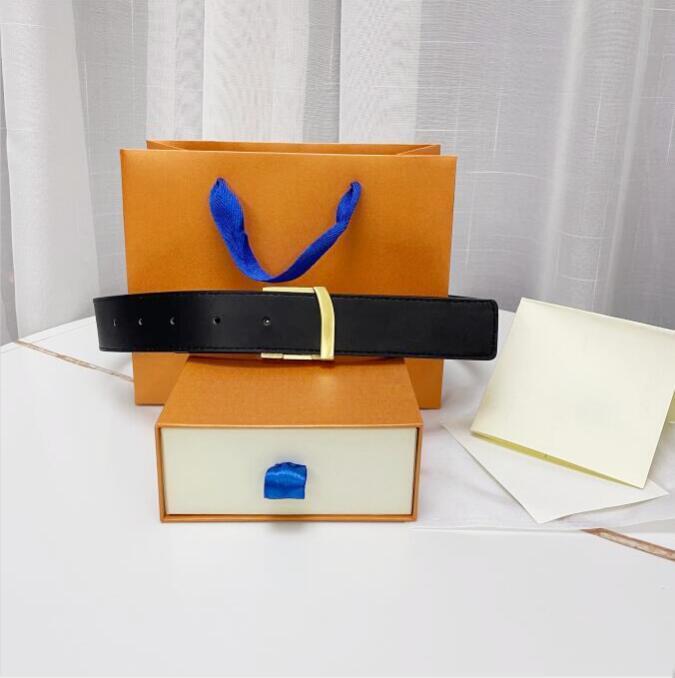 2021 Fashion Big Fibbia Genuine Cintura in pelle con box Designer Uomo Donna di alta qualità Cinture da uomo di alta qualità AAA308