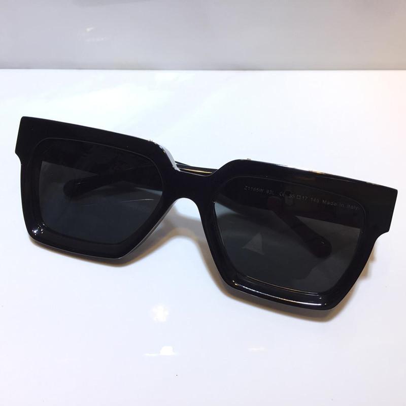 남성 여성을위한 백만장 선글라스 전체 프레임 빈티지 1165 1.1 유니섹스에 대한 선글라스 반짝이 골드 뜨거운 판매 골드 도금 최고 품질 96006