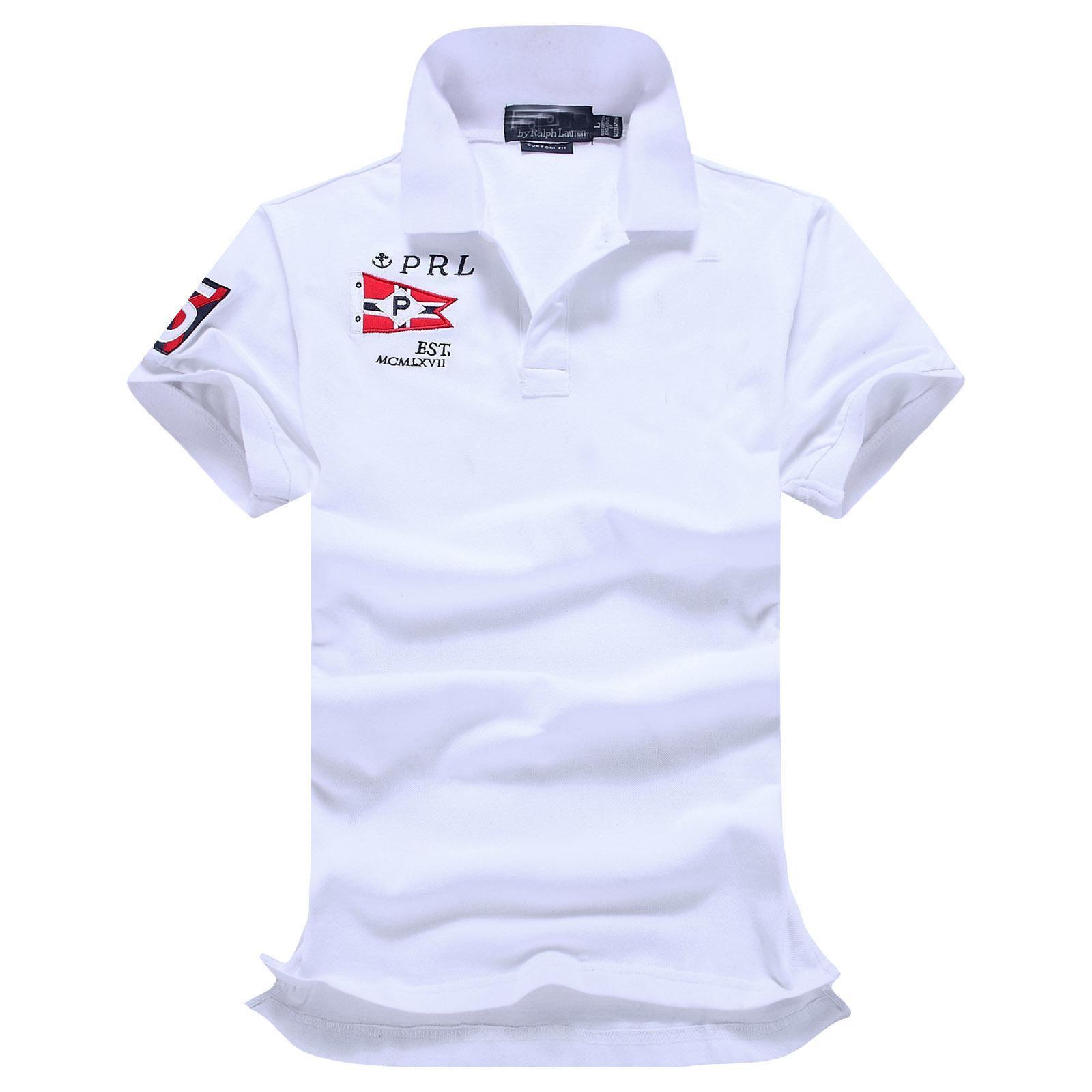 Быстрая лучшая доставка! Летняя Высокая распродажа Качество Классическая мода Большой Лошадь Короткий Рукав Поло Мужская Рубашка