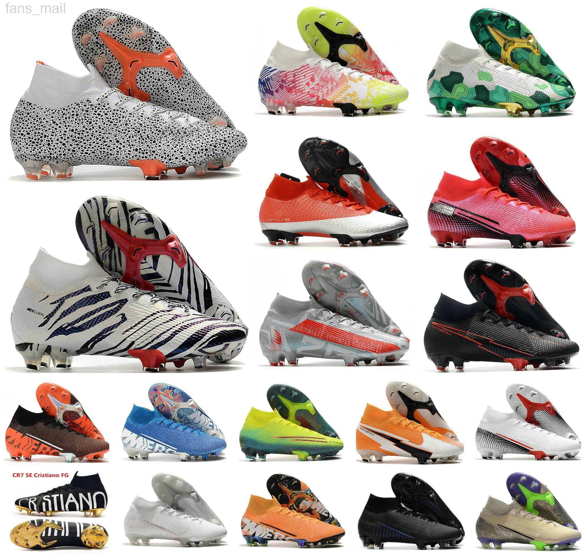 أعلى جودة cr7 mercurial superfly سفاري أحذية كرة القدم كوريا النخبة neymar المستقبل مختبر السابع 7 قرمزي fg رجل الشباب أطفال الأولاد كرة القدم أحذية حجم الولايات المتحدة 3-11