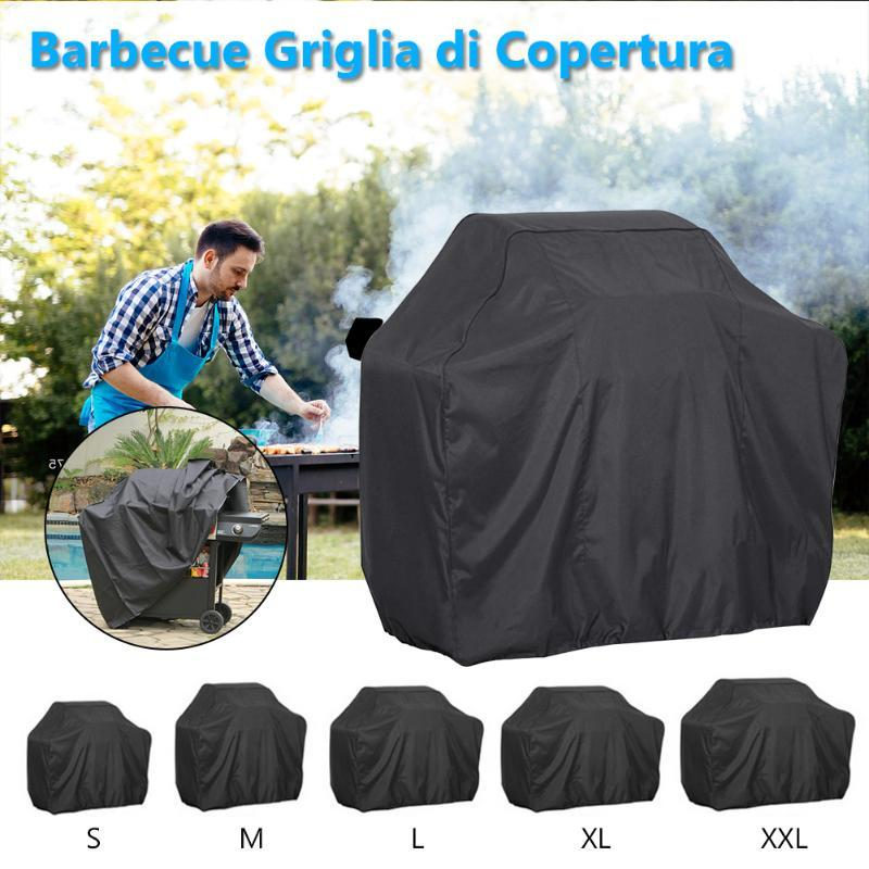 Waterproof BBQ Heavy Duty Grill Cover Resistant Electric Rain Protective Barbeque Anti Charcoal Dust Round Outdoor For Garden Tools & Access